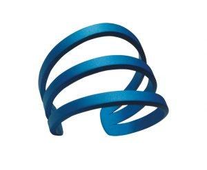 Bracciale Eclisse medio anodizzato azzurro