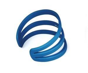 Bracciale Eclisse medio anodizzato azzurro-lat