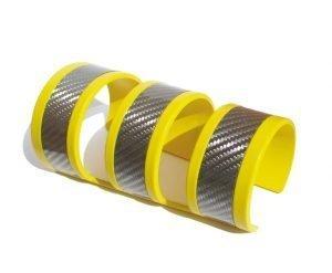 Bracciale-SKIN-alluminio-verniciato-giallo-e-fibra-di-alluminio