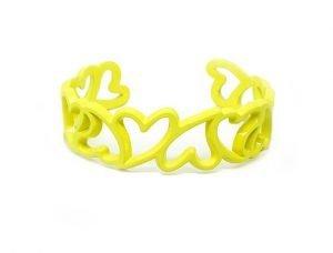 Bracciale San Valentino- My Love-giallo fluo